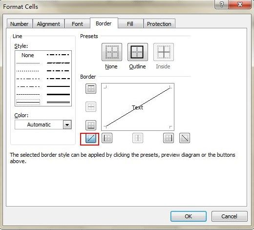 Thủ thuật Excel để thêm đường chéo trong ô