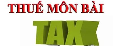 Quy định chung về thuế môn bài mới nhất 2016