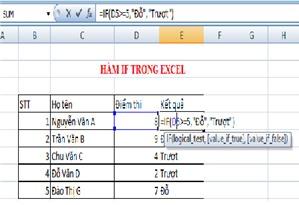 Cách sử dụng hàm IF trong kế toán Excel