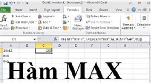 Cách sử dụng hàm MAX trong Excel