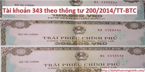 Phương pháp hạch toán TK 343 - trái phiếu phát hành theo TT 200
