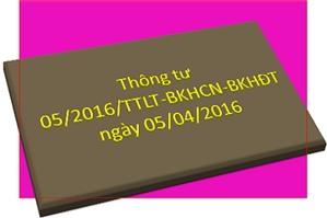 Thông tư 05/2016/TTLT-BKHCN-BKHDT, hướng dẫn xử lý tên doanh nghiệp  xâm phạm quyền sở hữu công nghiệp