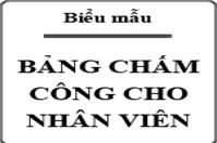 Mẫu bảng chấm công làm thêm giờ theo Thông tư 200/2014/TT-BTC – Mẫu số 01b-LĐTL
