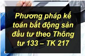 Sơ đồ kế toán tổng hợp tăng, giảm bất động sản đầu tư theo Thông tư 133 – TK 217.
