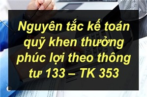 Sơ đồ kế toán quỹ khen thưởng phúc lợi – TK 353 theo Thông tư 133 .