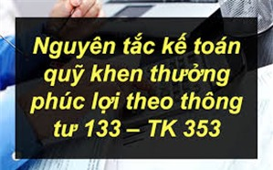 Nguyên tắc kế toán quỹ khen thưởng phúc lợi - TK 353 theo thông tư 133