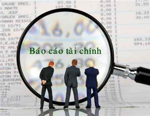 Bảng giải trình Báo cáo tài chính nộp lại
