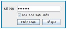 Đăng nhập nhập mã pin chứng thư số