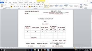 Nội dung và Phương pháp lập Bảng cân đối tài khoản theo Thông tư 133.